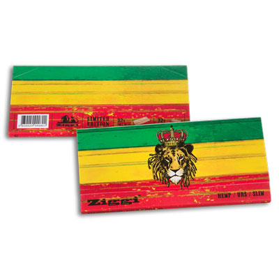 Cigaretové papírky Ziggi URS Slim Ultra thin Rasta Lion KS + Filters